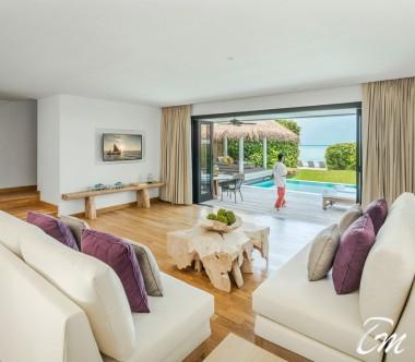 COMO Maalifushi Maldives Two Bedroom Beach House Living Room