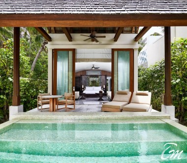 Conrad Maldives Rangali Island Deluxe Beach Villa Exterior