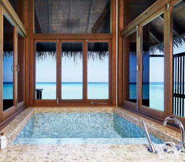 Conrad Maldives Rangali Island Family Water Villa Bathroom