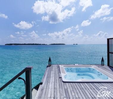 Conrad Maldives Rangali Island Family Water Villa Deck