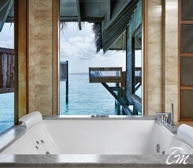 Conrad Maldives Rangali Island Premier Water Villa Bathroom