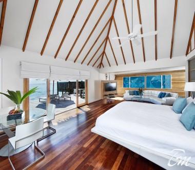 Conrad Maldives Rangali Island Premier Water Villa Bedroom