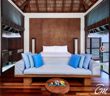 Conrad Maldives Rangali Island Retreat Water Villa Bedroom