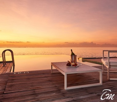 Conrad Maldives Rangali Island Sunset Water Villa Sunset View