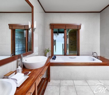 Conrad Maldives Rangali Island Water Villa Bathroom
