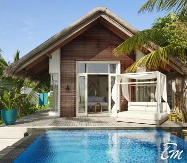 Fairmont Maldives - Sirru Fen Fushi Deluxe Beach Sunrise Villa - Exterior