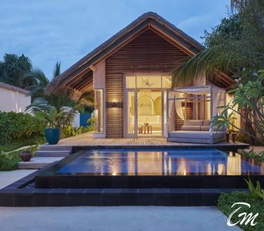 Fairmont Maldives - Sirru Fen Fushi Deluxe Beach Sunset Villa  - Exterior