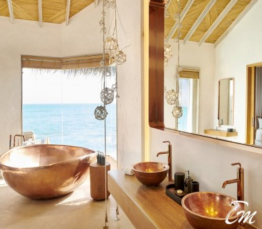 Fairmont Maldives - Sirru Fen Fushi Grand Water Sunset Villa - Bathroom