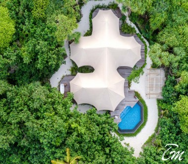 Fairmont Maldives - Sirru Fen Fushi Luxury Tented Villa Aerial