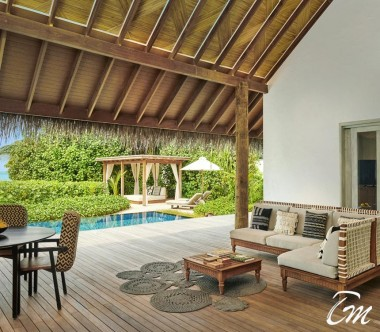 Fairmont Maldives - Sirru Fen Fushi Three Bedroom Beach Sunset Villa Exterior
