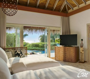 Fairmont Maldives - Sirru Fen Fushi Three Bedroom Beach Sunset Villa -Interior