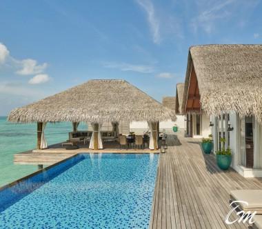 Fairmont Maldives - Sirru Fen Fushi Three Bedroom Water Sunset Villa Deck