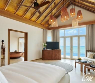 Fairmont Maldives - Sirru Fen Fushi Three Bedroom Water Sunset Villa Interior