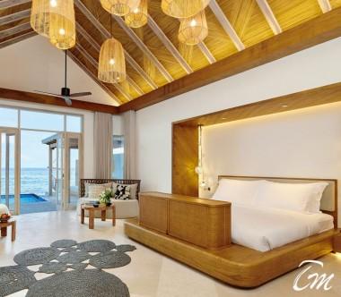 Fairmont Maldives - Sirru Fen Fushi Two Bedroom Water Sunrise Villa Bedroom