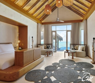 Fairmont Maldives - Sirru Fen Fushi Two Bedroom Water Sunset Villa - Bedroom