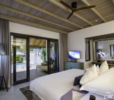 Finolhu - Baa Atoll Maldives Beach Pool Villa Interior