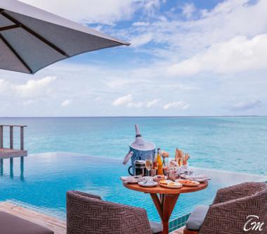Finolhu - Baa Atoll Maldives Rockstar 2 Bedroom Ocean Pool Villa Aerial