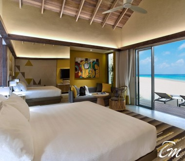 Hard Rock Hotel Maldives new Luxury Gold Beach Villa