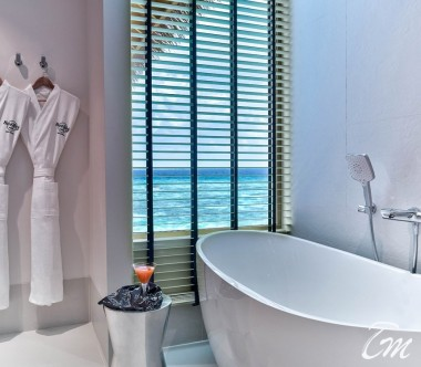 Hard Rock Hotel Maldives Platinum Overwater Villa Bathroom