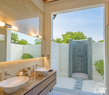 Heritance Aarah Resort Maldives Beach Villa Bathroom