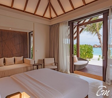 Heritance Aarah Resort Maldives Beach Villa Bedroom