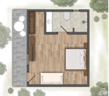 Kihaa Maldives Deluxe Villa Floor Plan