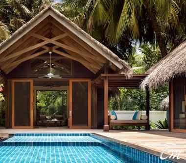 Shangri-La's Villingili Resort - Deluxe Pool Villa  Exterior