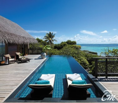 Shangri-La's Villingili Resort and Spa - Ocean Tree House Villa Deck And Pool