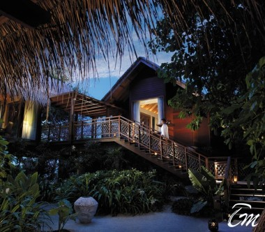 Shangri-La's Villingili Resort and Spa - Ocean Tree House Villa Entrance