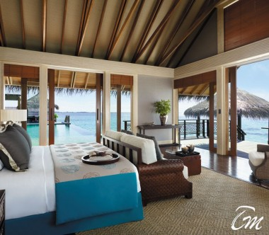 Shangri-La's Villingili Resort - Grand Water Villa Muthee Bedroom