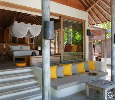 Six Senses Laamu Maldives Lagoon Beach Villa with Pool
