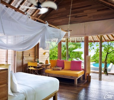 Six Senses Laamu Maldives Ocean Beach Villa with Pool Interior