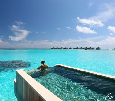 Six Senses Laamu Maldives Ocean Water Villa with Pool Exterior