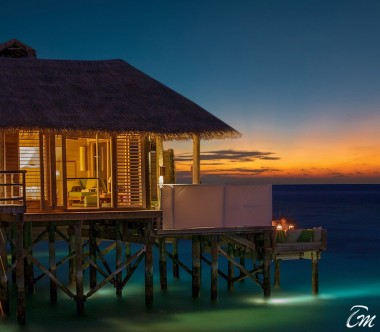Six Senses Laamu Maldives Sunset Laamu Water Villa with Pool Exterior