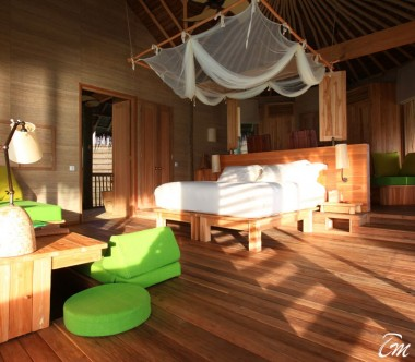 Six Senses Laamu Maldives Ocean Water Villa Bedroom