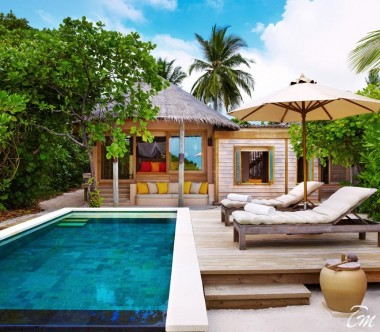 Six Senses Laamu Maldives Beach Family Villa with Pool Exterior