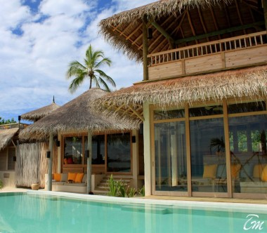 Six Senses Laamu Maldives Two Bedroom Lagoon Beach with Pool  Exterior