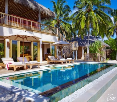Six Senses Laamu Maldives Two Bedroom Ocean Beach with Pool Exterior