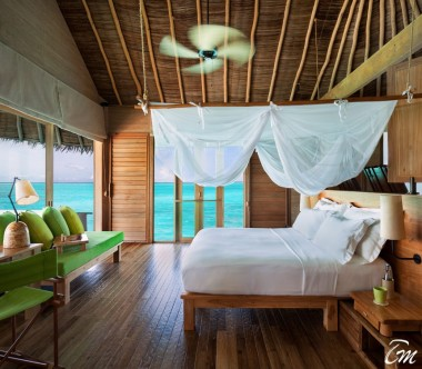 Six Senses Laamu Maldives Sunset Laamu Water Villa with Pool Interior