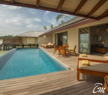 The Residence Maldives Dhigurah Sunrise 2 Bedroom Water Pool Villa Exterior