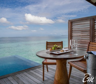 The Residence Maldives Dhigurah Sunrise Water Pool Villa Deck View