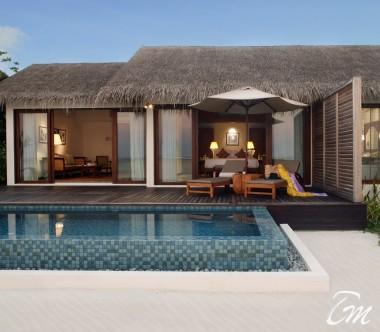 The Residence Maldives Dhigurah Sunset Beach Pool Villa Exterior