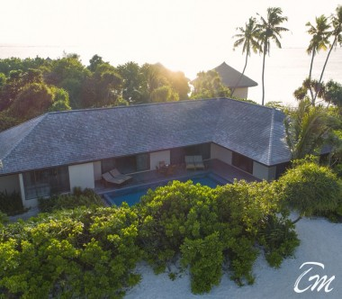 The Residence Maldives Dhigurah Sunset 2 Bedroom Beach Pool Villa Exterior