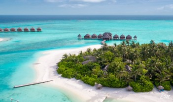 Anantara Dhigu Maldives Resort  - Anantara Spa Aerial View