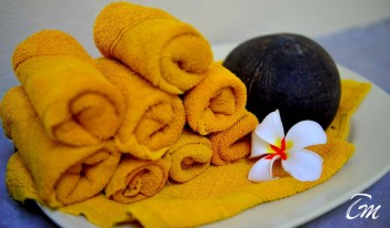 Aavun Spa at Biyadhoo Island Resort Towel
